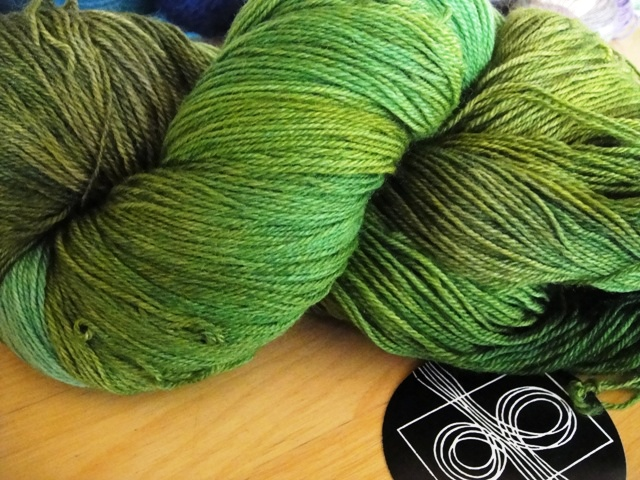 Lime, 4 ply 100% wool